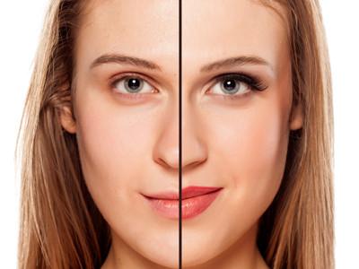 Vergleichsbilder Wimpernverlängerung